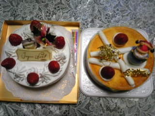 X'masケーキ、2個\^o<br />  ^/