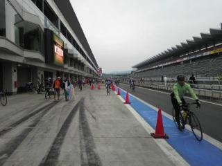 富士スピードウェイで、自転車レース!