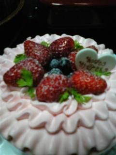 母の日にFLO<br />  のケーキ(^O^)/